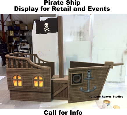Custom Pirate Ship Retail Foam Prop Display