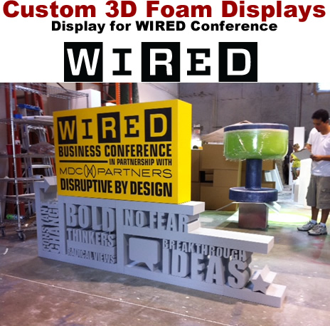 Custom Foam Letter Number Logo Displays