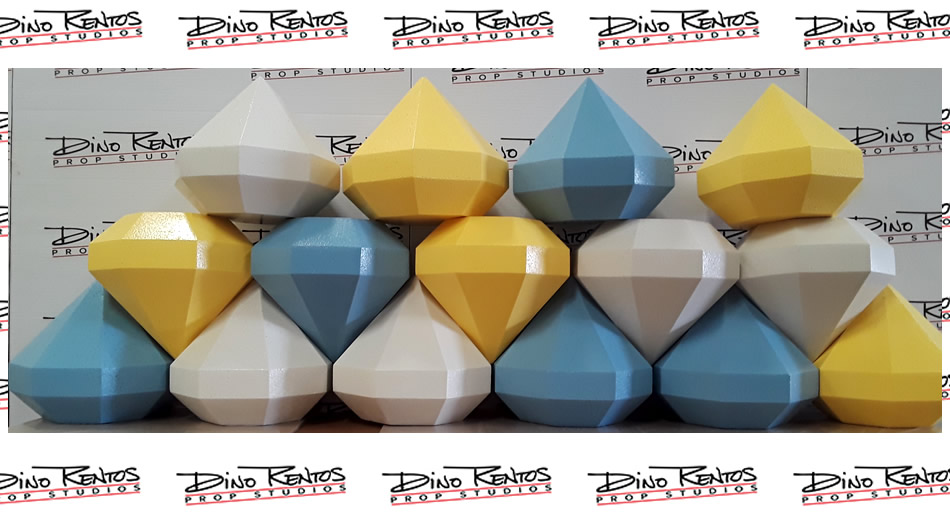 Custom Foam Diamond Props for Ellen Game Show