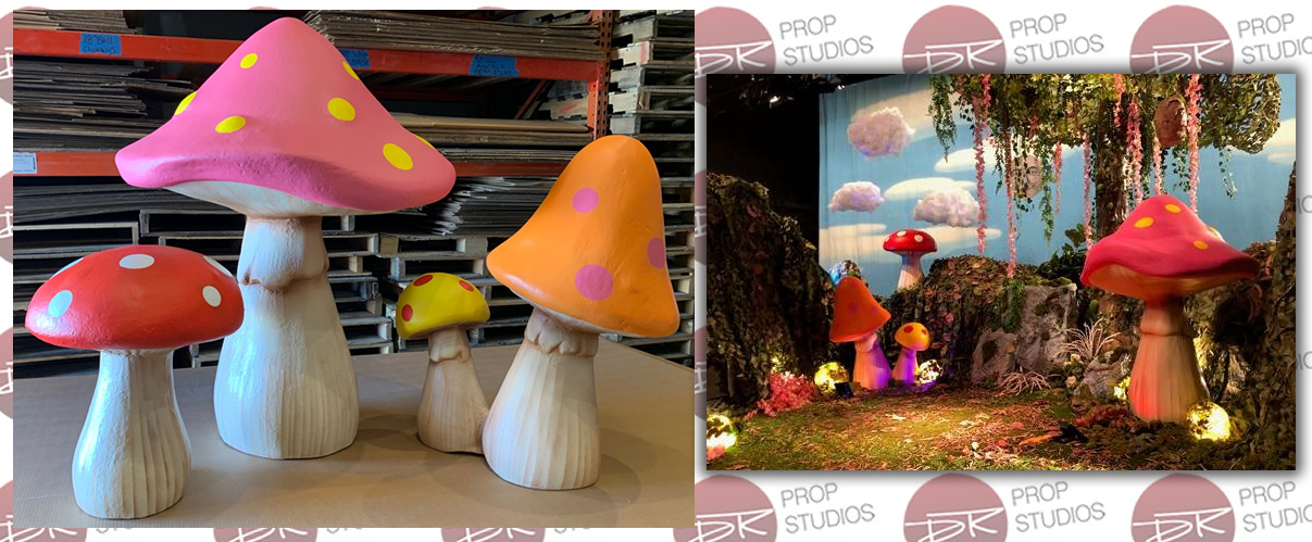 Large Foam Mushroom Props for film and production set