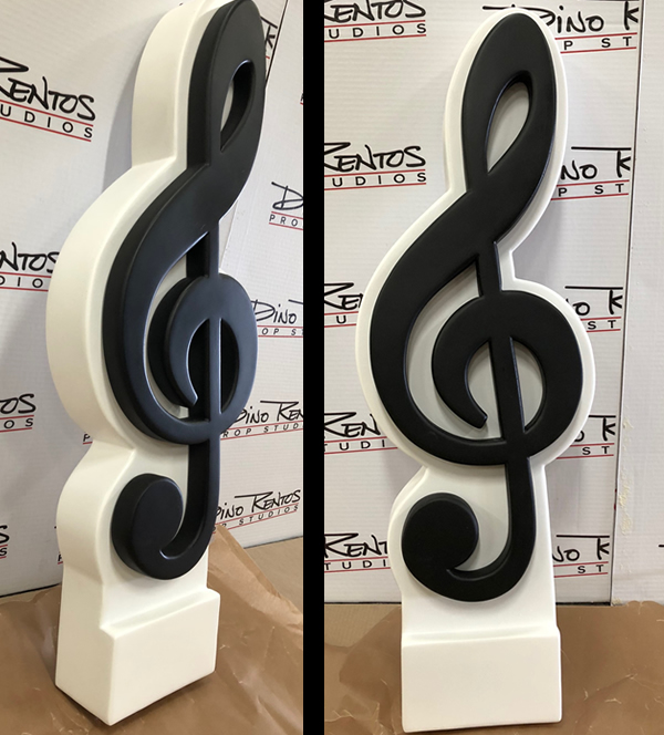 Large Giant Music Note Tremble Foam Prop Display