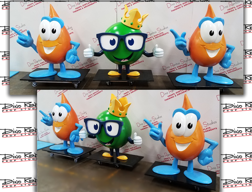 Custom Foam Oil Drip Character Mascot Props for lobby displays