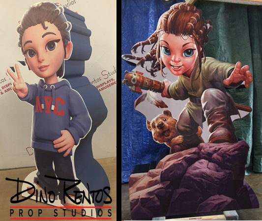 Custom Print on Foam Book Character Haibu Props