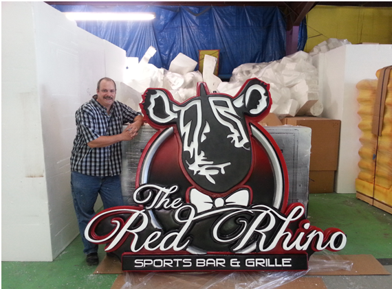 Retail Custom Foam Signage for interior and exterior display Red Rhino