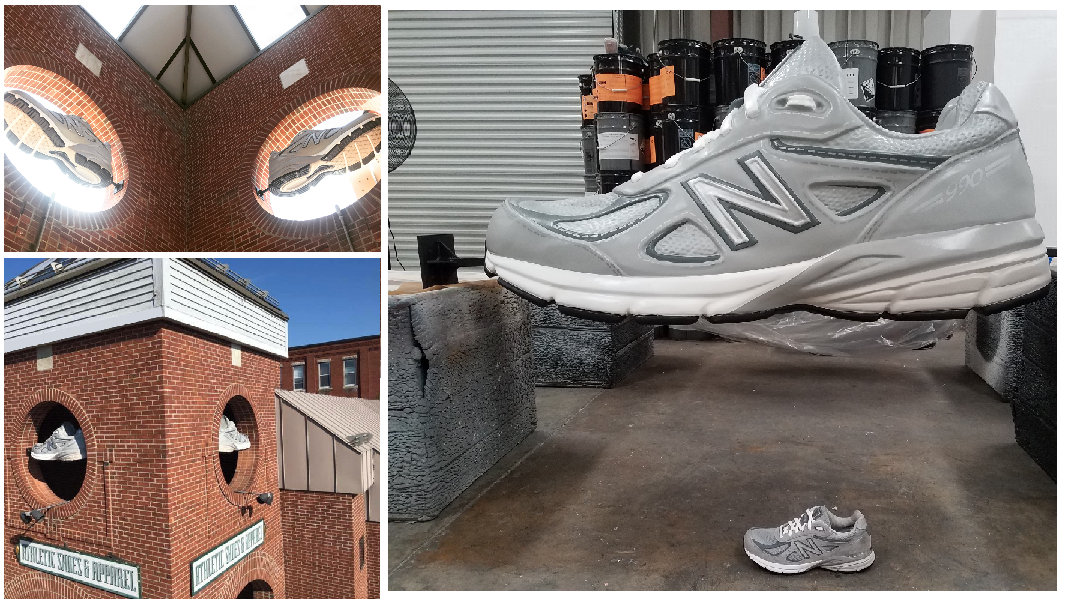 Custom Foam Sculpted Retail Displays and Decor Sneaker Shoe Prop