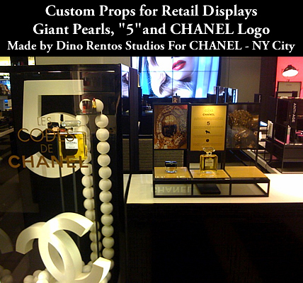 CHanel USA custom made retail store display props
